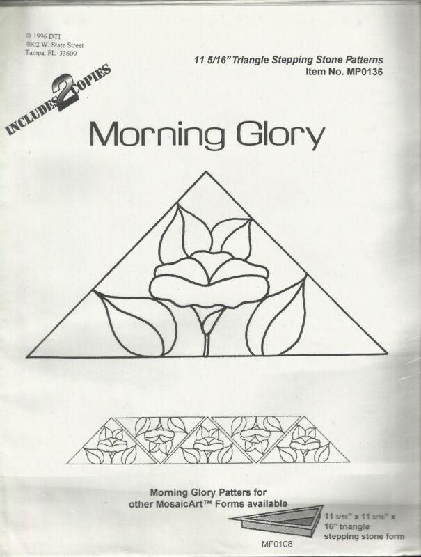 Morning Glory Mosaic Gardenstone Triangle Pattern Stepping Stone Pattern