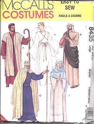 8435 Uncut Mccalls Muster Erwachsene Bibel Kostüme King Angel Weihnachten - Bibel Kostüm Muster
