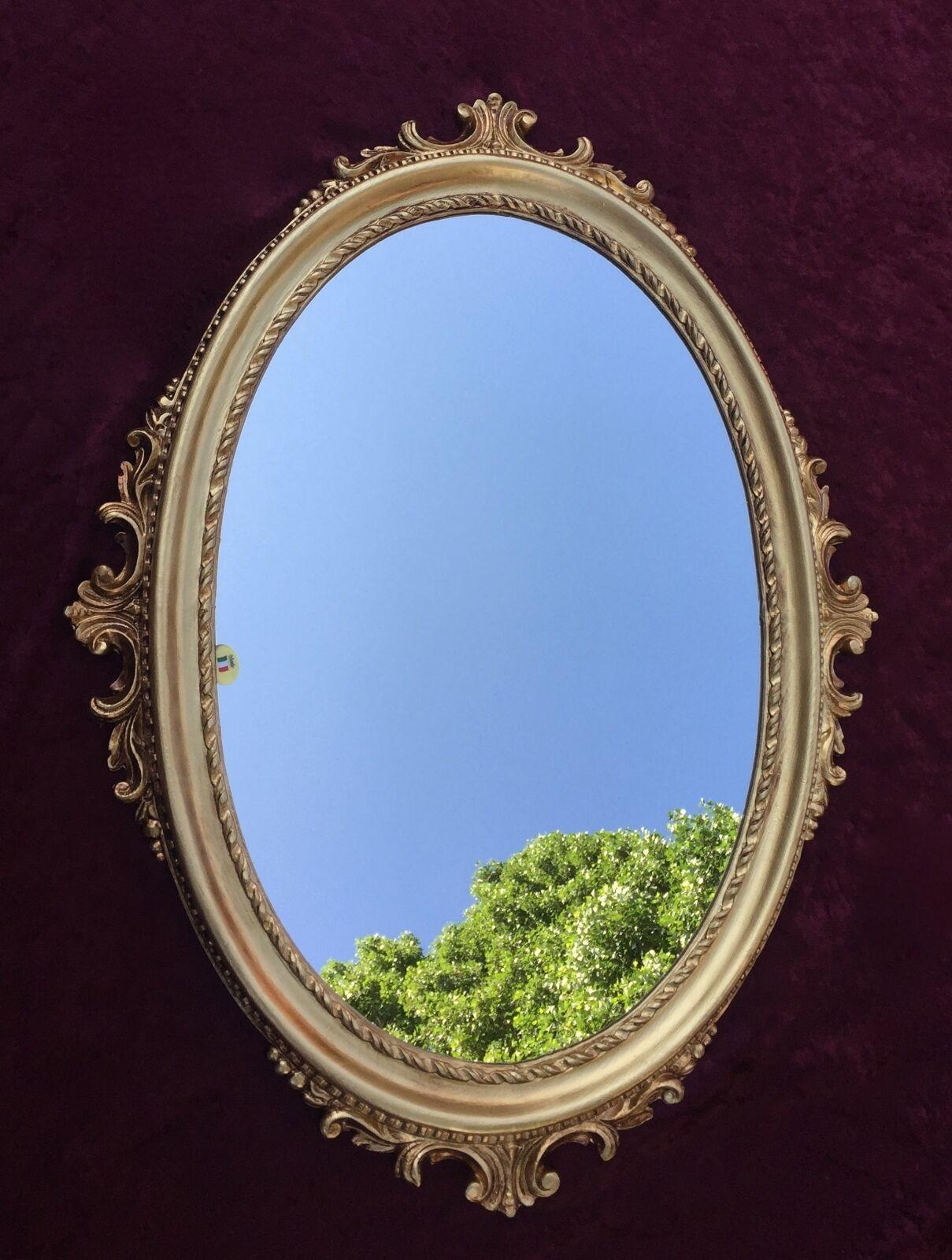 wandspiegel antik silber oval barock badspiegel spiegel 62x48cm flurspiegel c12 eur 69 00. Black Bedroom Furniture Sets. Home Design Ideas