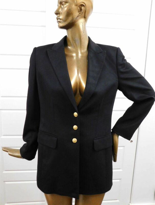 Escada Margaretha Ley Placenza Black Wool Blazer Jacket sz 40 Germany