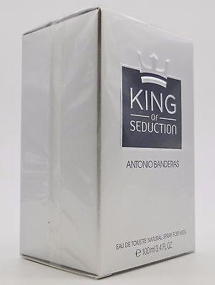 KING OF SEDUCTION By ANTONIO BANDERAS 3.4 oz 100 ml Men Cologne EDT Spray NIB