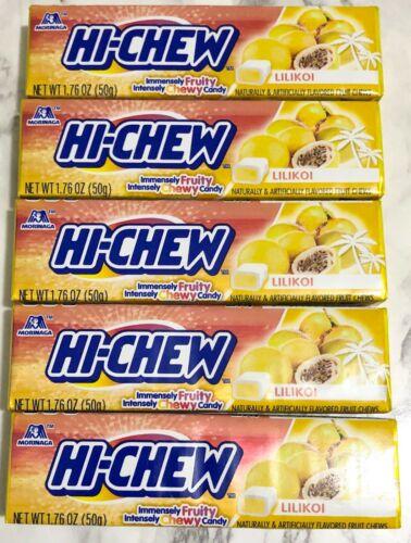Hi Chew Morinaga Chewy Candy 1.76 oz - Lilikoi (Pack of 5)