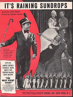 It's Raining Sundrops 1950 Doris Day James Cagney West Point Story Sheet Music