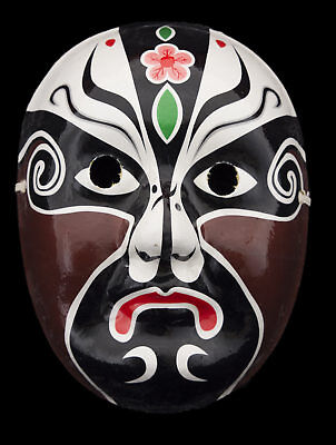 Mask D'Opera Chinese in Paper Mache Brown Plaster Cast Handmade 22454