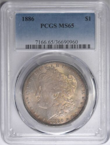 1886 Morgan Silver Dollar PCGS MS-65 Toned #960