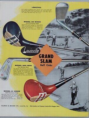 1957 Vintage Golf Clubs Grand Slam Golf Clubs Print Ads