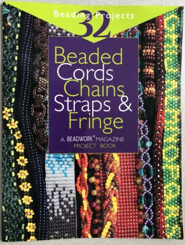 Interweave Press BEADED CORDS CHAINS STRAPS & FRINGE Pattern Book 32 Projects !