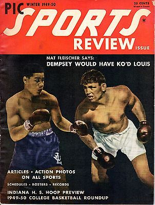 c Sports Review Magazine, Boxing, Joe Louis Jack Dempsey~Gd (Winter Pic)