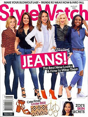 StyleWatch Magazine August 2016 JEANS! Best New Looks How To Wear Them TRENDS...