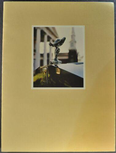 1980 Rolls Royce Brochure Silver Wraith II Shadow II Corniche Excellent Original