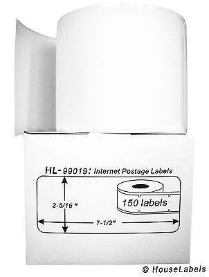 4 Rolls of 150 1-Part Ebay PayPal Postage Labels for DYMO® LabelWriters® 99019