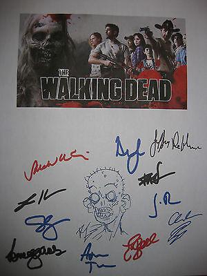 The Walking Dead Signed TV Script X12 Andrew Lincoln Kirkman Callies Holden rpnt