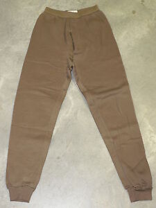 NEW-ECWCS-POLYPRO-COLD-WEATHER-DRAWERS-PANTS-LARGE-BROWN-US-Military-NWOT