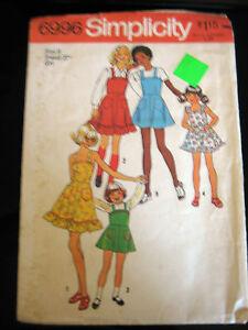 Vintage-Simplicity-6996-Girls-Dress-or-Jumper-Pattern-Size-8
