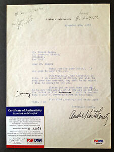 ANDRE-KOSTELANETZ-Typed-Signed-Letter-Autograph-Conductor-Composer-PSA-DNA-COA
