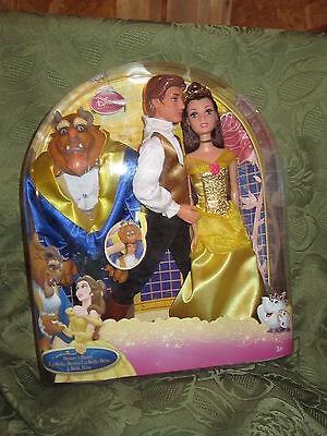 Mattel Disney Princess Beauty And The Beast Belle Adam Doll Figures In Box