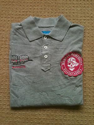 Bunker Mentality Golf Blue Skyz And 65's Polo Shirt. Medium. Grey