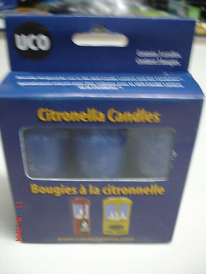 Uco 9 Hour Citronella Candles 3 Pack