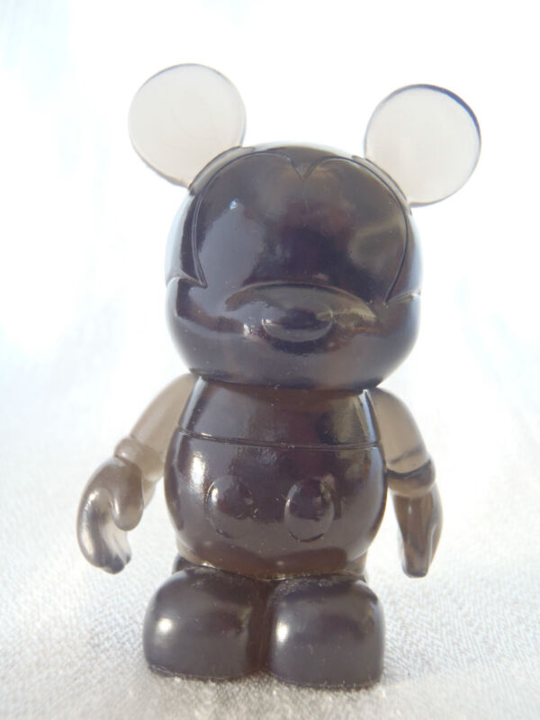 """Disney Vinylmation Clear #1 Series BLACK COLOR 3"""" Mickey Mouse Figure"""