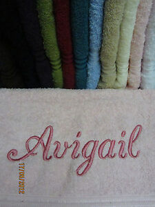 Personalised-Bath-Towels-Gifts-10-Col-100-Quality-Egyptian-Cotton-Range-550GSM