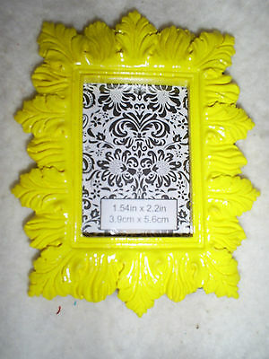 4 Tall X 3.25 Wide Rectangle Yellow Easel Back Table Top Photo Frame