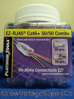 Platinum Tools 50/50 EZ-RJ45 Cat 6 Cable Lan Plug Ends Crimp Network Tip Connect