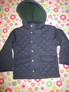 MINI-BODEN-Quilted-Hooded-Jacket-Coat-Age-3-4-Free-UK-P-P