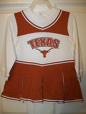 Texas Longhorns One Piece Cheerleader Outfit Girls Toddler Size 2t