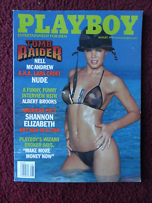Playboy Magazine August 1999   Tomb Raider Lara Croft   Shannon Elizabeth