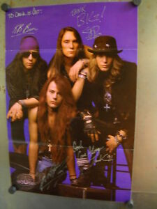 Big house 1991 promo poster signed by all 4 band members for 1991 house music