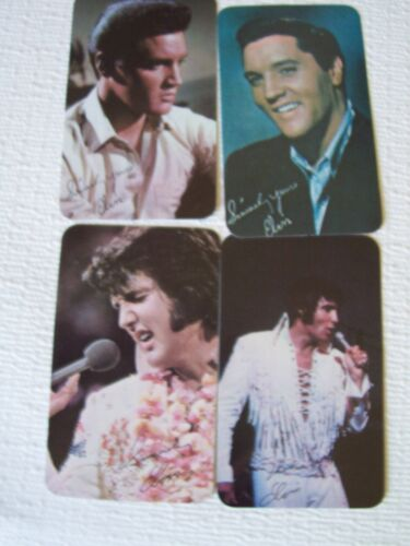 ELVIS PRESLEY 4 ORIGINAL CALENDER PHOTO TRADING CARDS 1963, 1967, 1969, 1972