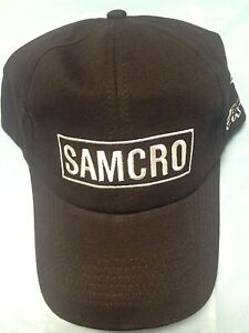 AUTHENTIC SONS OF ANARCHY SAMCRO BANNER AS JAX WEARS ON SHOW SOA BIKER HAT CAP
