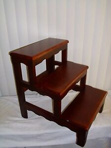 Solid-Alder-Bed-Step-Stool-Dark-Cherry-Wooden-wood
