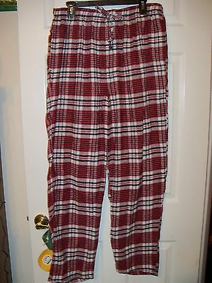 Accents By Isaco Red Flannel Pajama Pj Sleep Lounge Pants Mens Size Xl