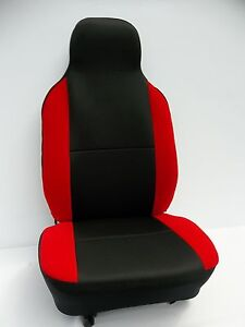 CITROEN C1 3 DOOR HATCH CAR SEAT COVERS RED BOLSTERS