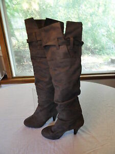 WOMANS-GRAY-CHARLOTTE-RUSSE-BOOTS-SIZE-7-BRAND-NEW