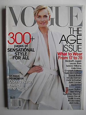 Amber Valletta August 2001 Vogue Sigourney Weaver  Olatz Schnabel  Kate Moss