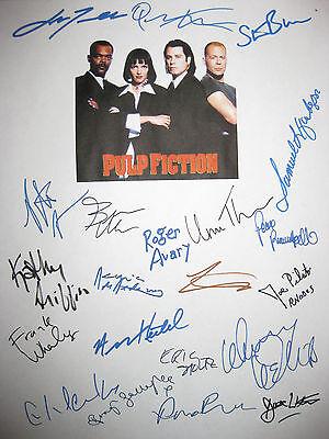 Pulp Fiction Signed Script X21 John Travolta Tarantino Thurman Jackson reprint