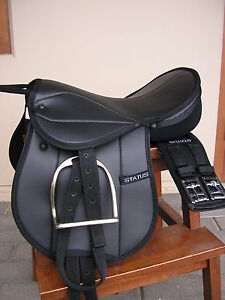 Status Pony Pad / Childs Saddle  fully mounted with nickle plated irons*NEW*
