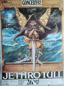 JETHRO  TULL 1982    ORIGINAL  Concert Poster -Tour Poster   84 x 60 cm   NEU