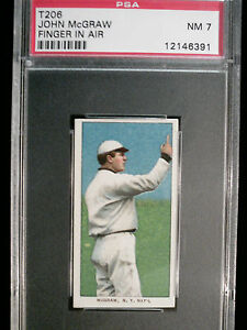 t206-John-McGraw-Finger-In-Air-PSA-7-Near-Mint