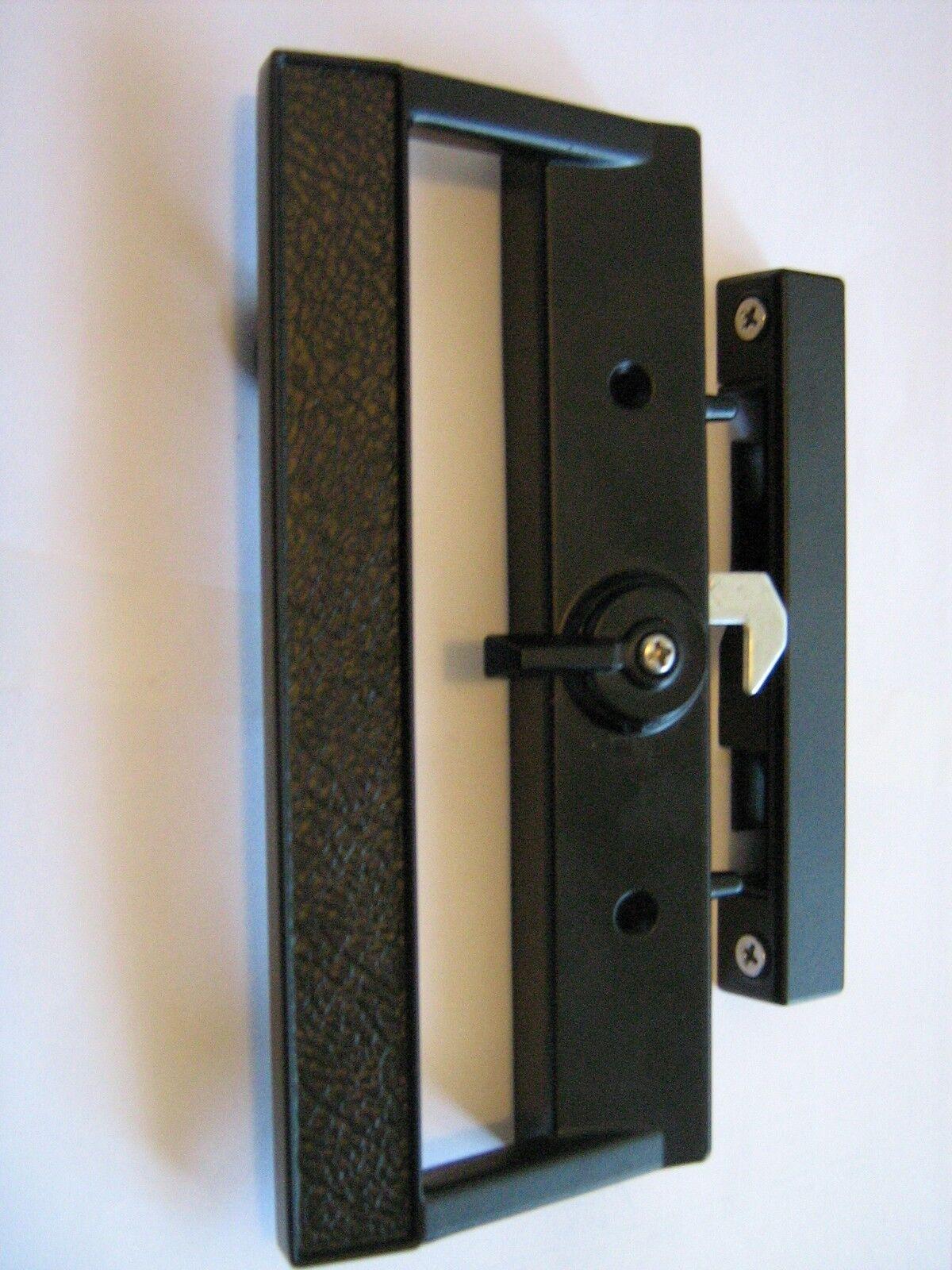 Sliding glass door lock handle with external key cylinder for Sliding glass doors locks
