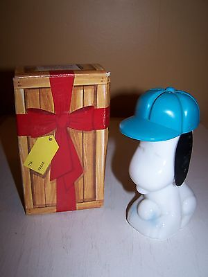 VINTAGE AVON SNOOPY SURPRISE PACKAGE DECANTER w/ SPORTS RALLY LOTION  (FULL) on Rummage