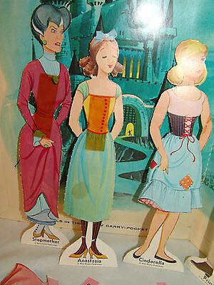 Vintage CINDERELLA Paperdolls - Original 1964 - Good Condition - Disney