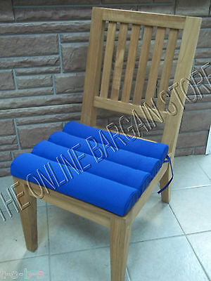 Frontgate Outdoor Channeled Replacement Patio Chair Cushion 19x18 Cobalt Blue