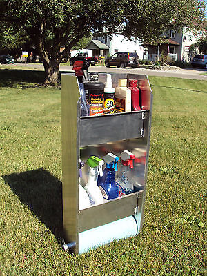Enclosed Trailer Accessories race car 8 quart wall mount paper towel storage