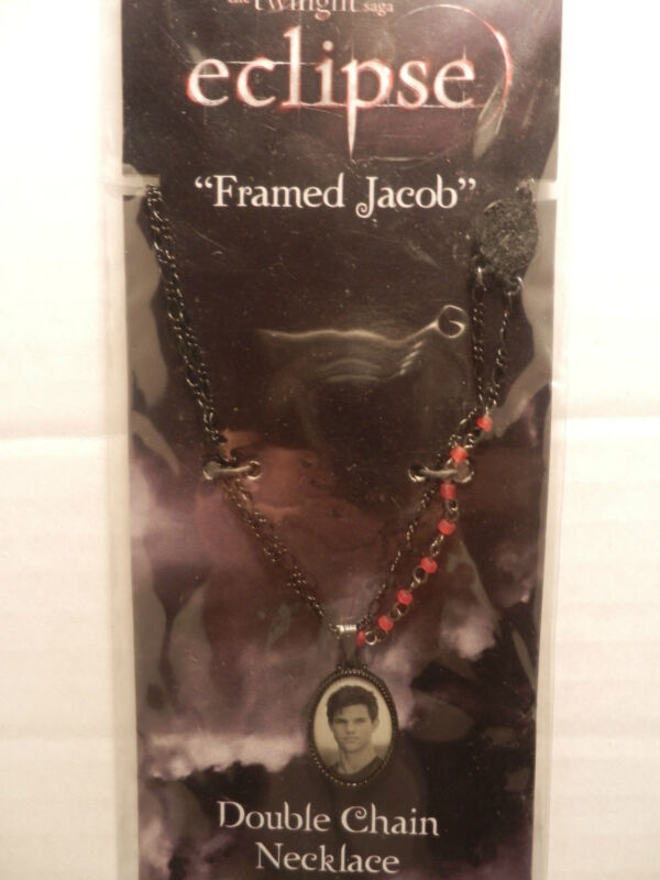 TWILIGHT ECLIPSE FRAMED JACOB  DOUBLE CHAIN NECKLACE FROM 2010