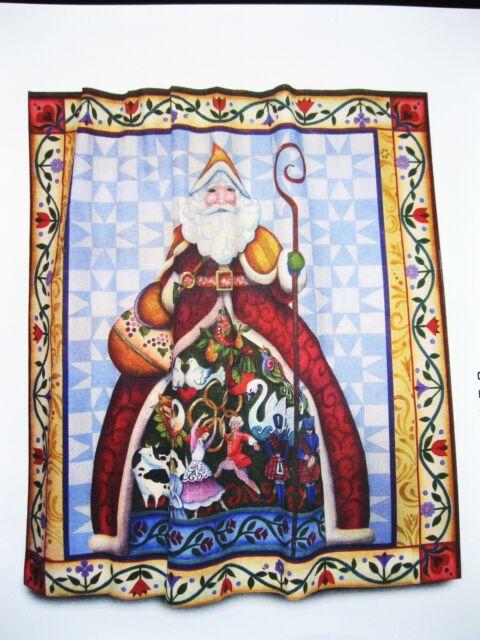 Jim Shore 12 Days of Christmas Santa Fabric Shower Curtain | eBay