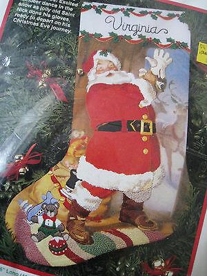Crewel Stitchery Dimensions Christmas Stocking Craft Kit,saint Nicholas,8077,16