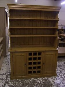 SOLID-OLD-RECLAIMED-PINE-ANTIQUE-STYLE-DRESSER-WITH-WINE-RACK